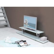 V - Glass TV Stand
