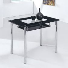 Small Compact - Glass Dining Table Only - Black, Frosted or Red