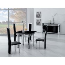 Extending Glass Dining Table Mini + 4 D231 Chairs set