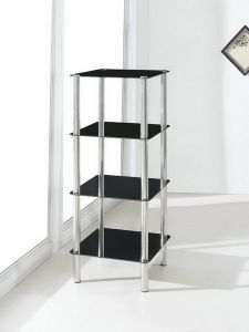 4 Tier Square Glass Stand Coffee Table Bathroom