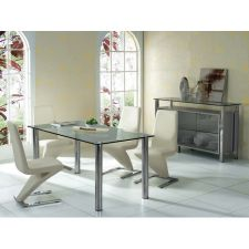 Trevero - Glass dining table + 6 D216 Chairs