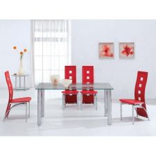 Trevero - Glass Dining Table + 6 x D215 Frosted chairs