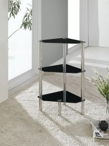 3 Tier Triangle Glass Stand Coffee Table Bathroom