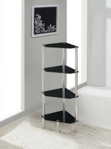4 Tier Triangle Glass Stand Coffee Table Bathroom