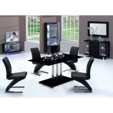 Trilogy - Glass Dining Table BLACK + 6 D216 Chairs