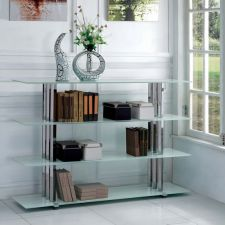 Trilogy White - Glass Bookcase