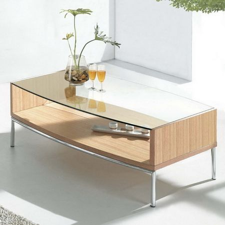 Metro - Glass Coffee Table Oak