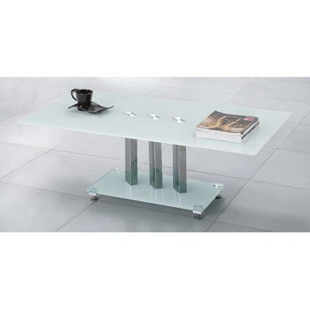 Trilogy - White Glass Coffee Table