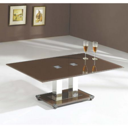Glass coffee table Ice Chocolate