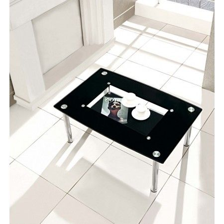 Compact - Black Glass Coffee Table