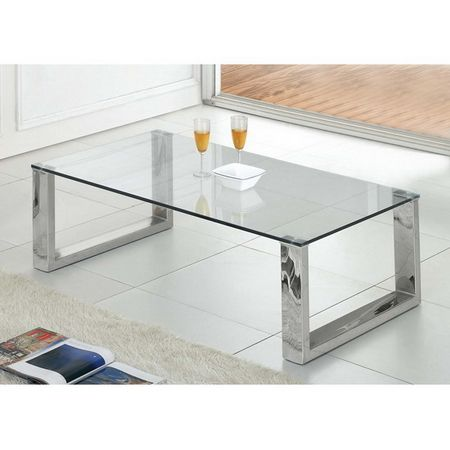 Transparent Glass Coffee Table Molten