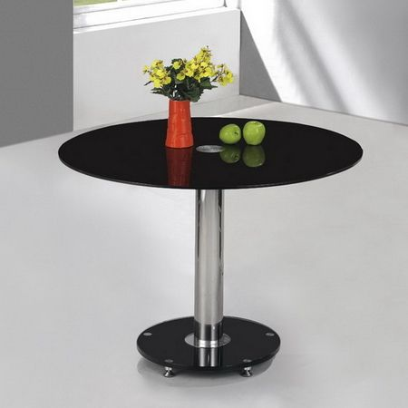 Round Glass Dining Table Small Ice 105cm
