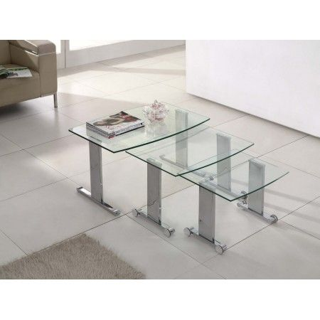 Scala - Glass Nest of Tables