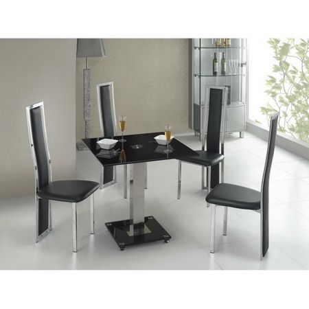 Square Ice table and Tuxedo chairs