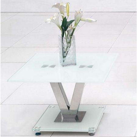 V - Glass Side Table
