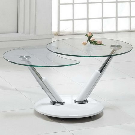Twist - Glass Coffee Table White