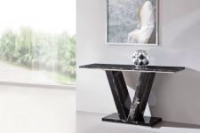 HERA Black Marble V Leg Console Hall Sofa Table