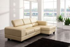Modena Genuine Leather Corner Sofa Cream