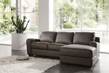 Leather And Faux Leather Sofa Corner Napoli