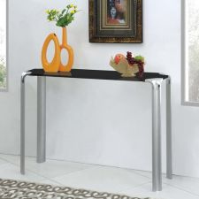 Glass console table Erica Black