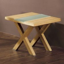 Wood side table Harvard Frosted