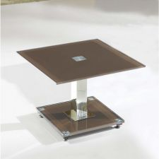 Glass side table Ice Chocolate