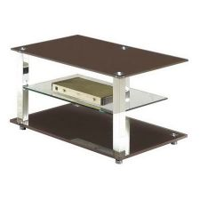 Glass plasma tv stand Ice Chocolate