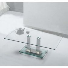Glass coffee table Ice Transparent