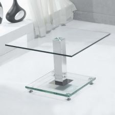 Glass side table Ice Clear
