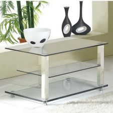 Glass plasma tv stand Ice Transparent