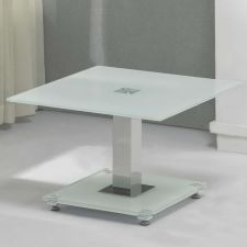 Glass side table Ice Ivory