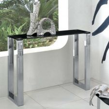 Glass console table Molten Black