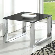 Molten - Glass side table Black