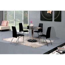 Round Glass Dining Table Small Ice + 4 x D211 Chairs