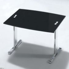 Scala - Glass side table Black