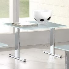 Glass side table Scala White