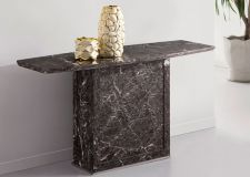 Zeus Brown-grey Marble Console Table