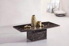 ZEUS Brown-Grey Marble Coffee Table
