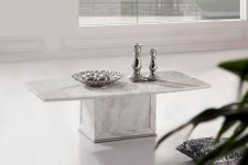 ZEUS White-Grey Marble Coffee Table