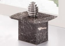 Zeus Brown-Grey marble end, side or lamp table