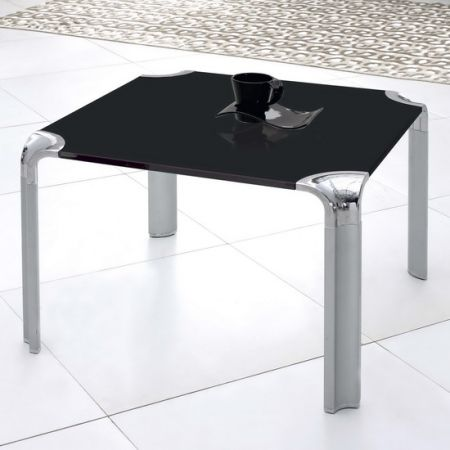 Glass side table Erica Black