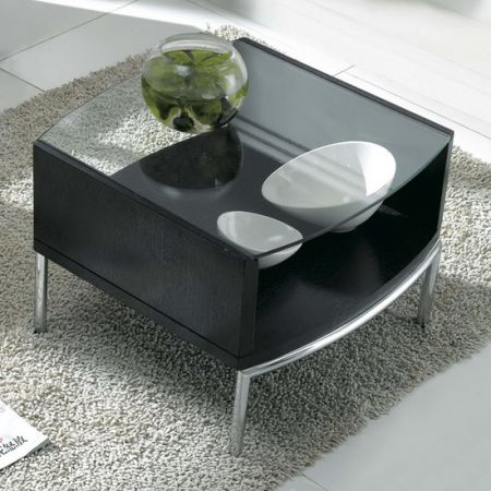 Glass side table Metro Wenge