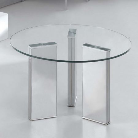 Glass coffee table Tetris Round Transparent