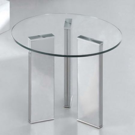 Glass side table Tetris Round Transparent