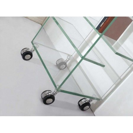 CD and DVD Rack with casters